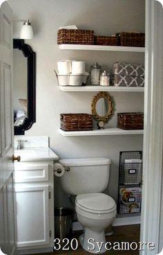 Bathroom shelving & decor