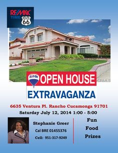 Client Testimonial About Stephanie Greer ReMax REMAX Times - Open house ad template