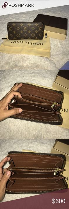 Authentic Louis Vuitton zippy wallet Authentic Louis Vuitton zippy wallet come with dust bag and box It is in good condition, it is only a little worn around, but the wear is minimal, barely noticeable Louis Vuitton Bags Wallets