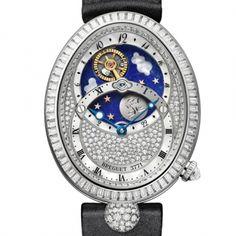 Gorgeous jeweled ladies timepiece, competing for the Foundation of the Grand Prix d'Horlogerie de Genève (GPHG) 2014 #Breguet gphg2014_breguet_reine_de_naples_jour_nuit_8999bb_01