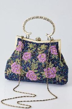 FLOWER BEAD EMBROIDERY PURSE