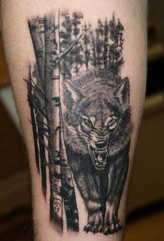 55 Wolf Tattoo Designs  <3 <3