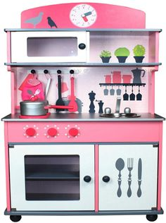 Berry Toys W10C026 My Very Own Pink Wooden Play Kitchen