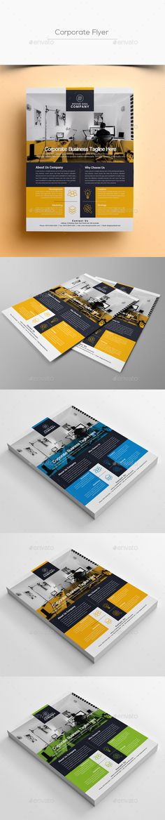 #Corporate #Flyer - Corporate Flyers Download here: https://graphicriver.net/item/corporate-flyer/19732416?ref=alena994