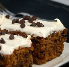 Top BEST Easy Pumpkin Spice Bars Cream Cheese Frosting Recipe by Food Network #recipes