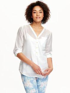 Women's Dobby-Stripe Pullovers