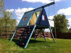 16 awesome small backyard playground landscaping ideas - Your Large Backyard - Backyard for kids awesome Kids Backyard Playground, Backyard Playset, Backyard For Kids, Outdoor Playset, Playground Ideas, Backyard Ideas, Playground Flooring, Garden Kids, Playground Design