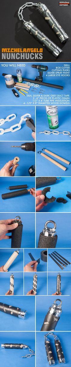 Use this DIY to learn how to make Michelangelo's nunchucks from TMNT! If you're into all things Teenage Mutant Ninja Turtles then you're going to love this simple craft!