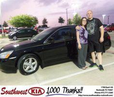 #HappyAnniversary to Zachary Boyd on your 2005 #Honda #Accord Sdn from Richard Branch at Southwest KIA Rockwall!