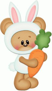 Silhouette Online Store - View Design #57184: bear dressed up as easter bunny pnc