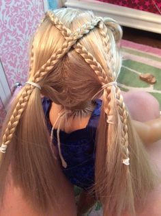 Cute little hairstyle for your doll a little bit more tricky but it is worth it!