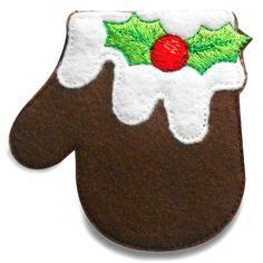 mitten008 - Christmas Mitten Machine Embroidery Design