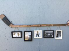 Retro Hockey Stick with 5 Hanging Frames.They had this for sale in Kenora when … Retro Hockey Stick with 5