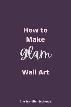 This is a great guide to make a stunning piece of wall art. This piece of art is going to light up any room in your home. Everytime someone comes over it will spark a conversation. Then you can tell them that you created this masterpiece! Imagine how proud you will be and you'll know the entire time that it was super simple to create! This tutorial is really easy to follow and doesn't have a lot of items to buy. #beautiful #wallart #glam #moms #easy #craft Pink Bedroom Decor, Glam Bedroom, Great Business Ideas, Pink Office, New Bus, Pink Wall Art, We Can Do It, Pink Walls, Super Simple