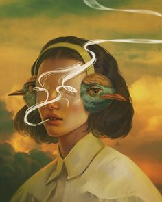 Illustration Art By Aykut Aydoğdu Aykut Aydoğdu, Turkey is an artist born in 1986 in Ankara. Aydoğdu, who has worked on art in both his high school years Surrealista Illustration Art By Aykut Aydoğdu Art And Illustration, Surealism Art, Digital Art Girl, Digital Portrait, Aesthetic Art, Surreal Art, Oeuvre D'art, Art Inspo, Art Drawings