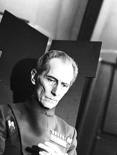 Grand Moff Tarkin as portrayed by Hammer Films alumnus Peter Cushing. I thought he was fascinatingly spooky when I was a kid. Star Wars Film, Star Wars Art, Harrison Ford, Grand Moff Tarkin, Peter Cushing, Star Wars Episode Iv, Star Wars Pictures, Cinema, Star War 3
