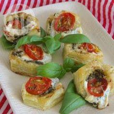 Pesto and Mozzarella Tarts @ allrecipes.com.au