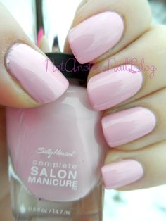 Pink a Card is another of the new reformulated Sally Hansen Complete Salon Manicure line, and its a lovely creamy soft baby pink.