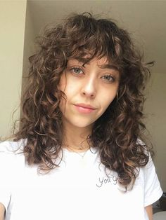 Our curly-haired beauty editor has compiled the best advice from expert hairstylists in this definitive guide to styling curly hair. Read all about it here. hair styles The Ultimate Curly-Hair Routine by a Beauty Editor Who Has Tried Everything Curly Hair Fringe, Curly Hair Styles, Thin Curly Hair, Curly Hair With Bangs, Curly Hair Tips, Natural Hair Styles, Shaggy Curly Hair, Curly Lob, Permed Short Hair