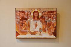"""The last supper"" by Luba Latskiv Catholic Art, Religious Art, Religion, Life Of Christ, Best Icons, Byzantine Icons, Last Supper, Orthodox Icons, Sacred Art"