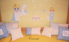 Dulce mural de Coconic, pintado a mano para dos hermanitos.