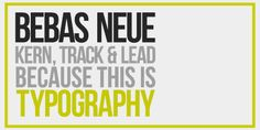 typography posters bebas - Google Search