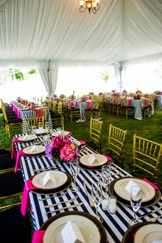 kate spade inspired wedding reception