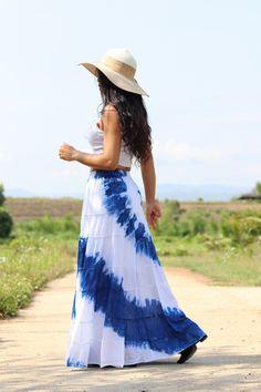 Boho Skirt / Maxi Skirt / Maxi Boho Skirt /Modest Skirt / Beach Skirt /Full Length skirt / Tie Dye Skirt/ Long Skirt Modest Skirts, Long Maxi Skirts, Boho Skirts, Beach Skirt, Beach Dresses, Beautiful Long Dresses, Beautiful Ladies, Boho Dress, Dress Skirt