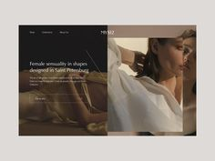 Homepage Concept by Barbara Lopez on Dribbble Website Design Layout, Homepage Design, Web Layout, Layout Design, Clothing Store Design, Web Design Inspiration, Shape Design, Editorial Design, Concept