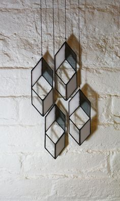 Must find a way to use these! Stained Glass Elements: Diamond Drops (set of 4) on Etsy, $64.00