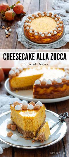 Golosissima #cheesecake alla #zucca con #spezie cotta al forno #ricetta #pumpkincheesecake #pumpkinspice #halloween
