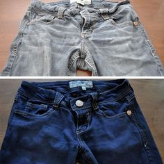 tons of awesome tips for making old clothes new again from like dying faded jeans to look new