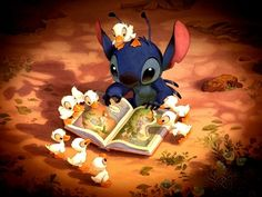 Stitch and ducklings~