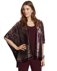 Travelers Collection Velvet Paisley Jacket #chicossweeps