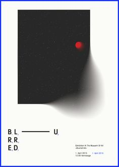 Blurred // poster design // src wash your hands