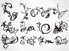Image detail for -Creative pattern scroll tattoos background