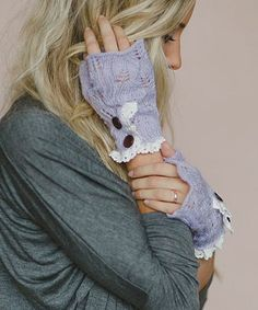 Look at this Lilac Mohair Fingerless Gloves on #zulily today!