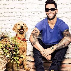 Adam Levine. Pinning for the dog, obviously...