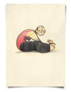GymGirls in Red by Frank Josten, via Behance
