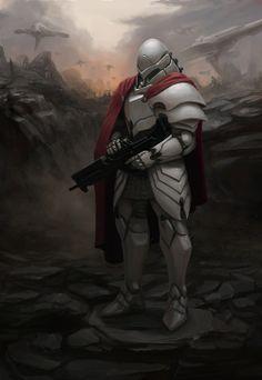 Futuristic knight armor, nice!