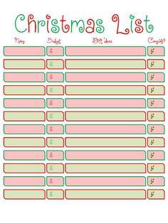 Printable Christmas List Template Christmas List Printable  Holiday  Pinterest  Christmas List .