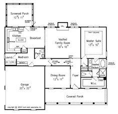 First Floor Cape Cod House Plan