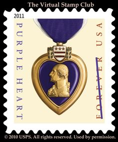 US Stamp 2011 - Purple Heart