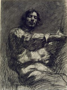Gustave Courbet, Self-Portrait known as At the Easel, Circa 1847 on ArtStack #gustave-courbet #art