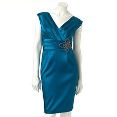 1 by 8 Embellished Satin Empire Dress - Women's