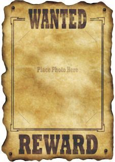 Wild West Western Theme Wanted Sign Poster Party Decoration