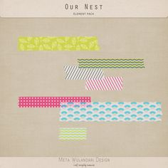 Free Digital Washi Tape from Meta Wulandari Design