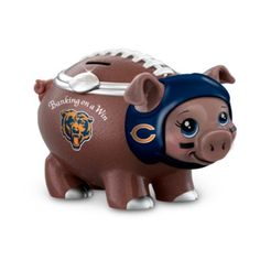 Banking On A Win Chicago Bears Football Piggy Bank $49.99 #Bears #NFL