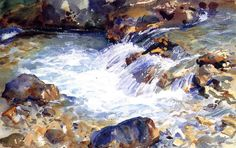 Sargent's Watercolor Rocks & More |  John Singer Sargent, In the Tyrol,  watercolor, 1904, Private Collection