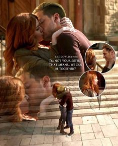 Clary et Jace Jace And Clary Kiss, Movies Showing, Movies And Tv Shows, Shadow Quotes, Shadowhunters Series, Dominic Sherwood, Cassandra Clare Books, Jace Wayland, Shadowhunters The Mortal Instruments